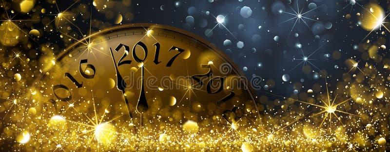 Nieuwjaren Vooravond 2017 stock illustratie