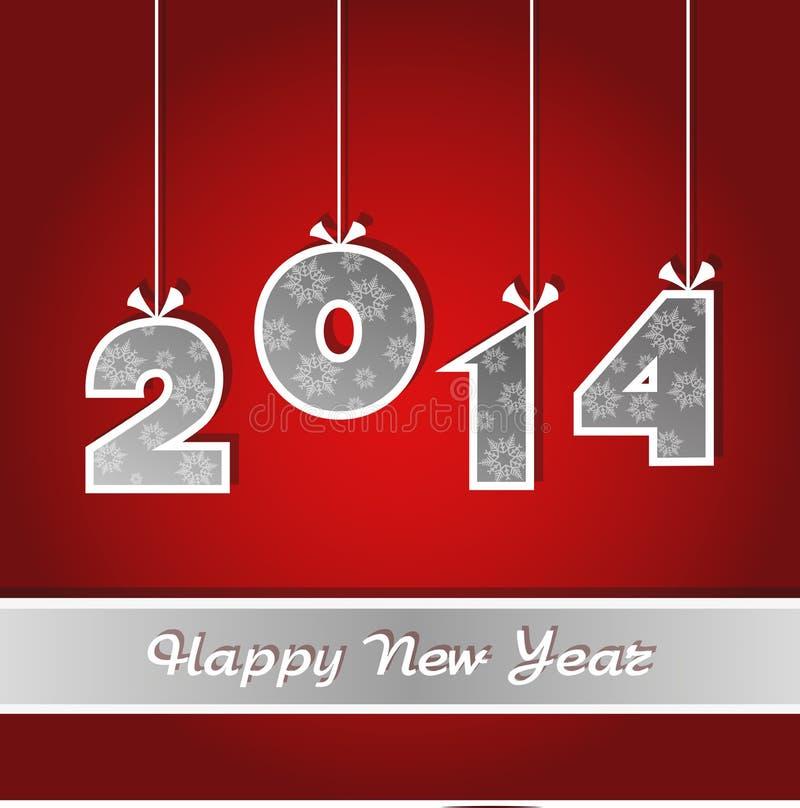 Nieuwjarenkaart 2014 royalty-vrije illustratie