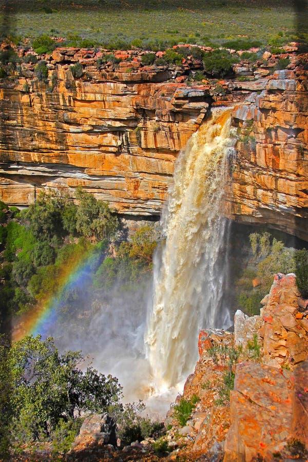 Nieuwoudtville-Wasserfall RSA stockfotos