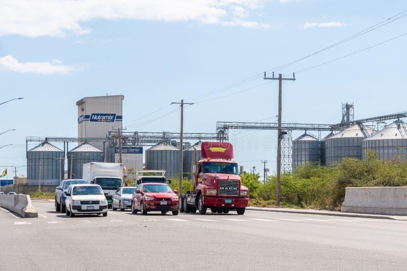 Nieuwpoort Mills Limited in Kingston Jamaica royalty-vrije stock foto's