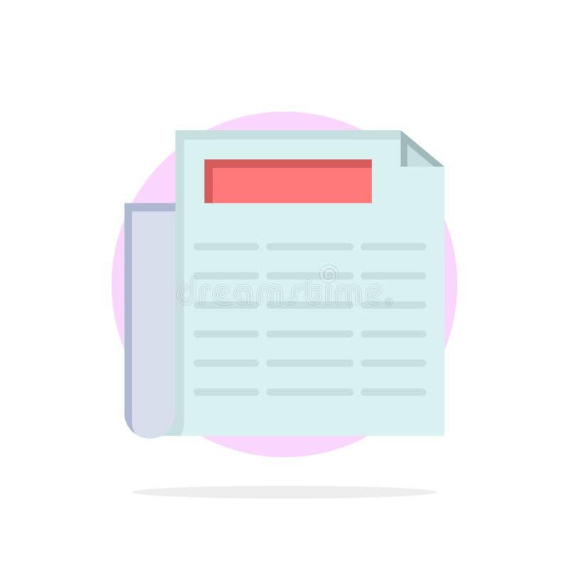 Nieuws, Document, van de Achtergrond document Abstract Cirkel Vlak kleurenpictogram stock illustratie