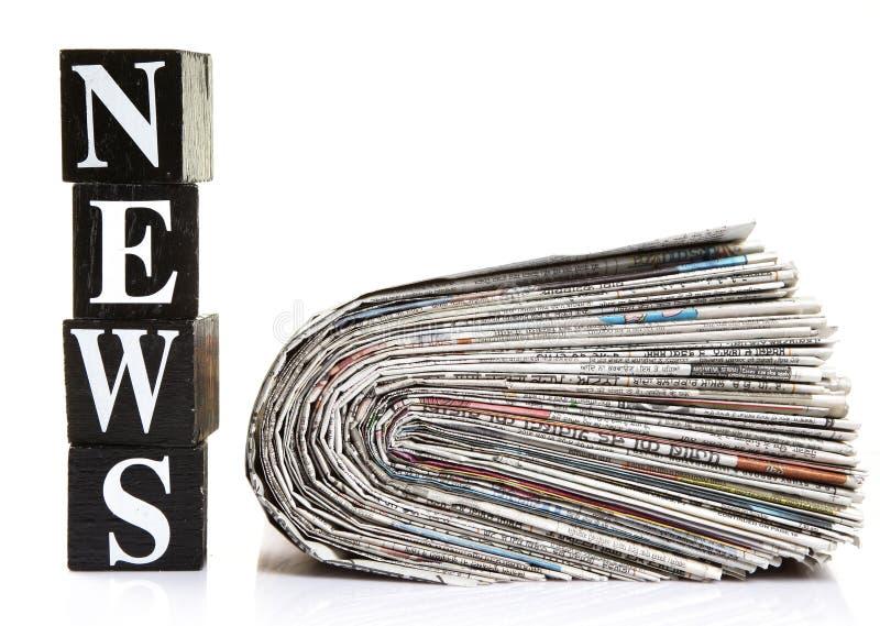 Nieuws en kranten royalty-vrije stock afbeeldingen