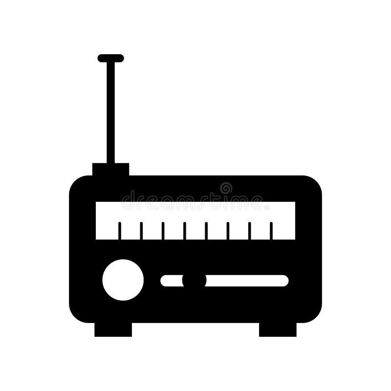 Nieuws satellietradio stock illustratie