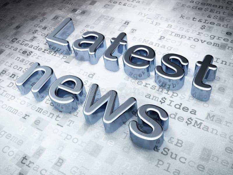 Nieuwsconcept: Zilveren Recentste Nieuws op digitale achtergrond royalty-vrije illustratie