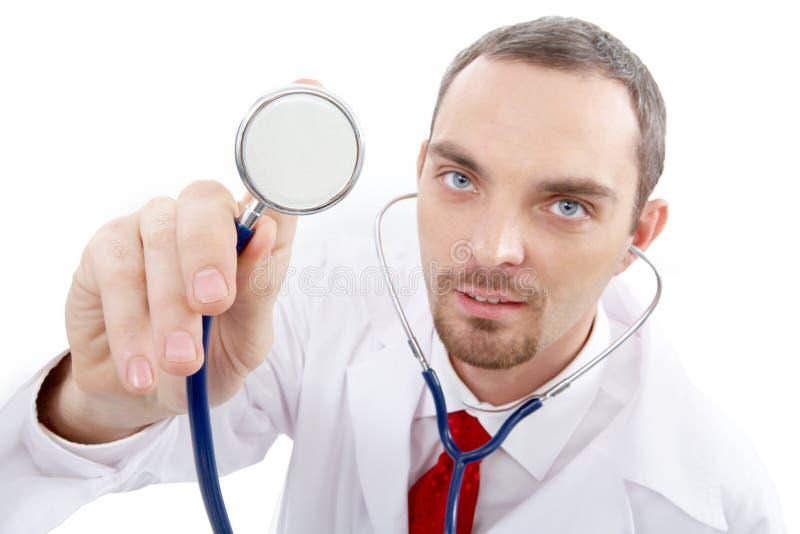 Nieuwsgierige arts stock fotografie