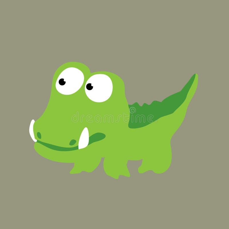 Nieuwsgierige Gator vector illustratie
