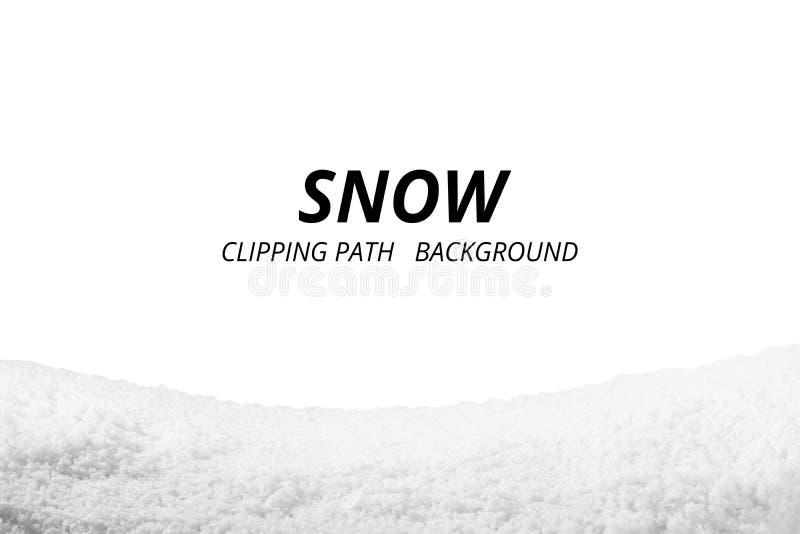 Nieve aislada en el fondo blanco fotos de archivo libres de regalías