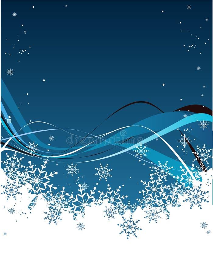 Nieve azul stock de ilustración