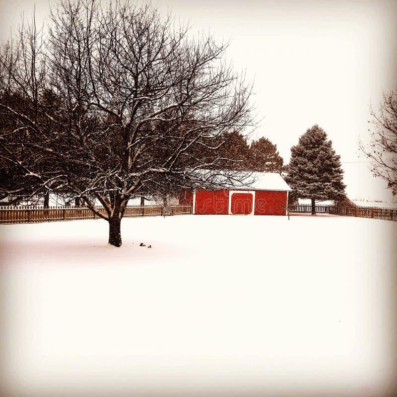 Nieve de abril imágenes de archivo libres de regalías
