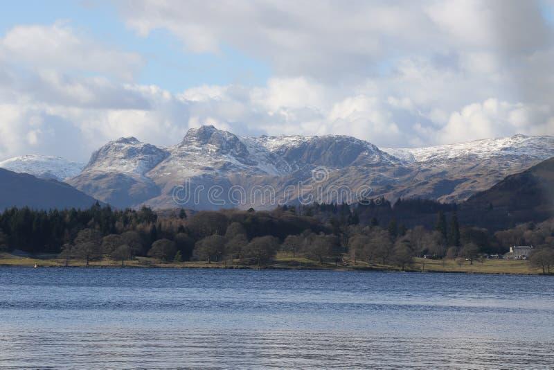 Nieve de Inglaterra del viaje del distrito del lago fotos de archivo libres de regalías