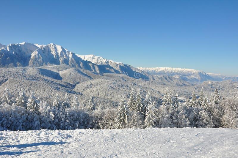 Nieve de la montaña fotografía de archivo