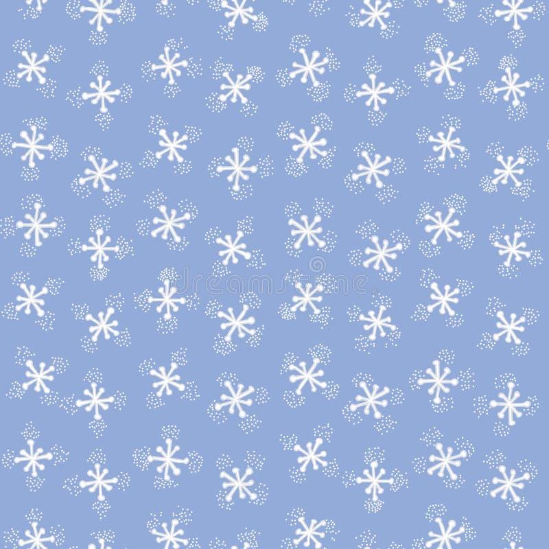 Nieve de la Navidad inconsútil con los copos de nieve hermosos ilustración del vector