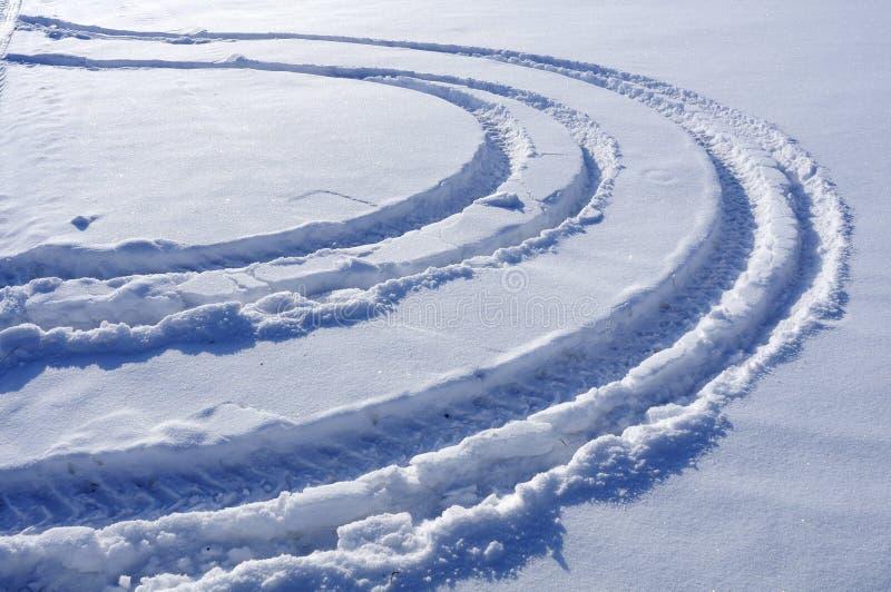 Nieve de la rodera foto de archivo libre de regalías