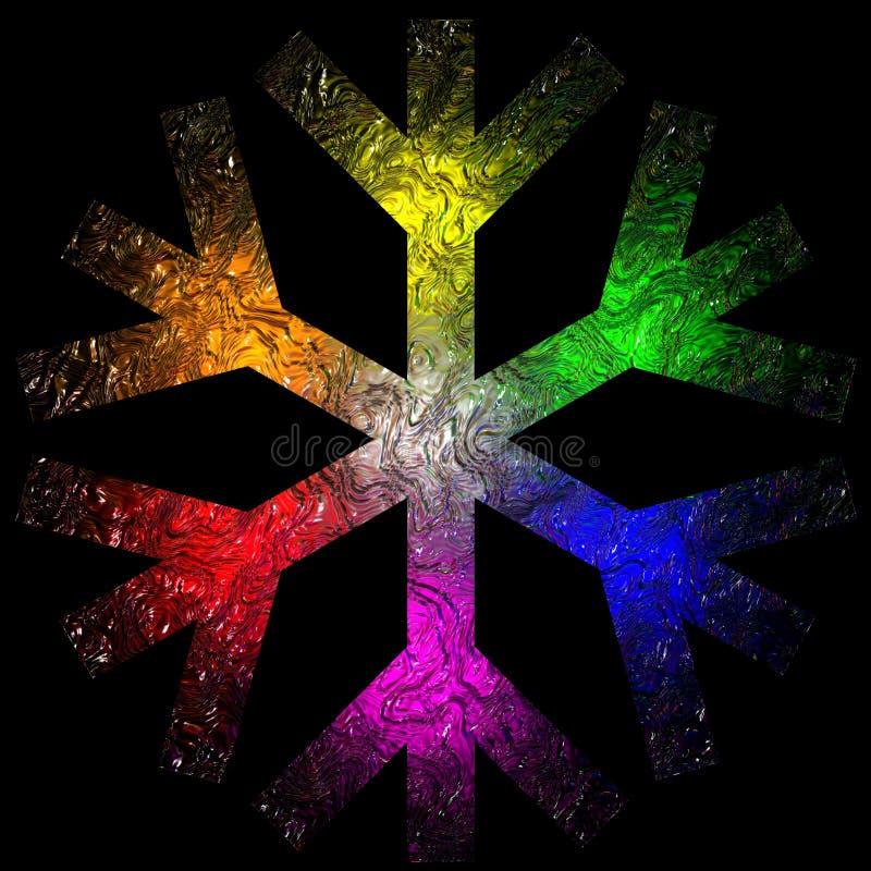 Nieve del arco iris stock de ilustración