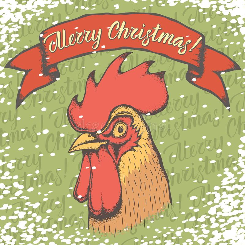 Nieve 02 del gallo libre illustration