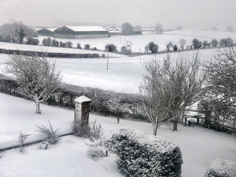 Nieve del invierno - North Yorkshire - Reino Unido fotos de archivo