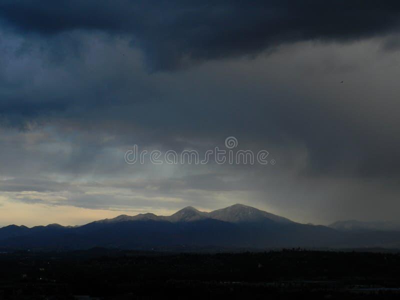 Nieve del pico de Santiago fotografía de archivo libre de regalías