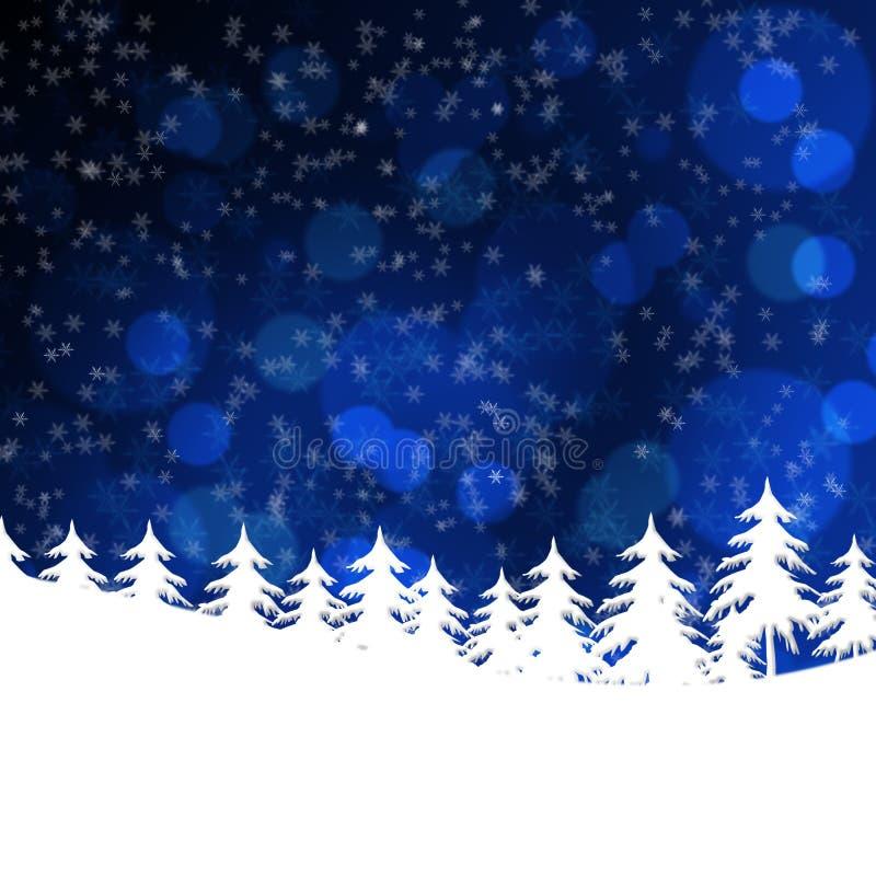 Nieve del prado ilustración del vector