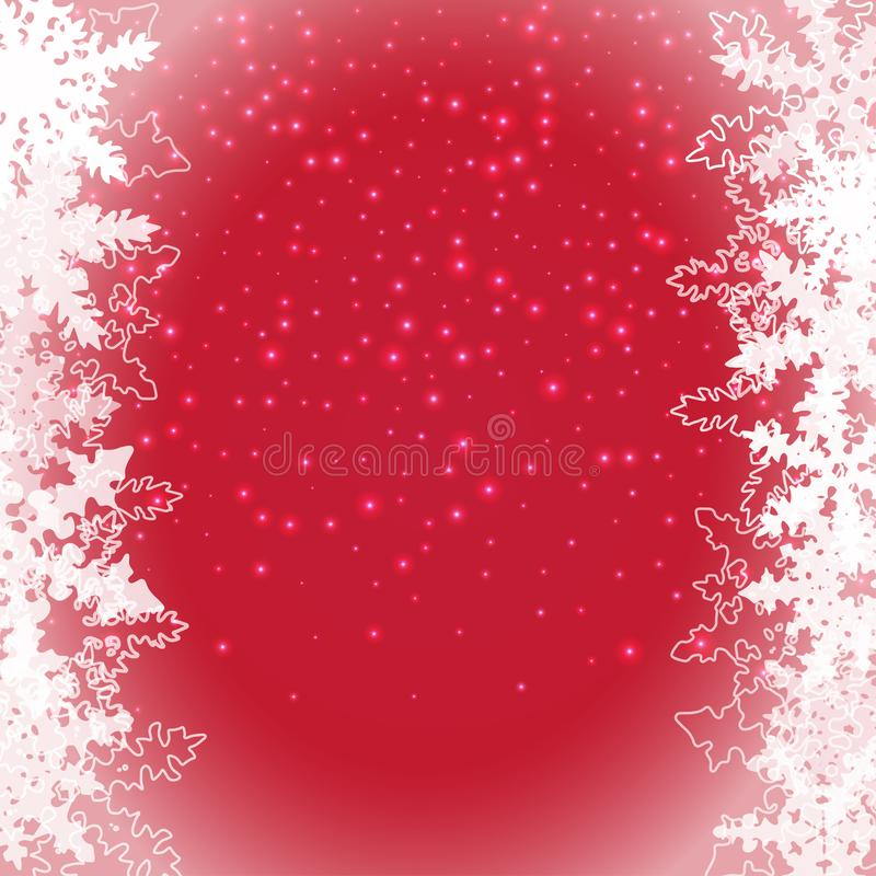 Nieve del vector en el fondo transparente, plantilla de la tarjeta de felicitación del día de fiesta Capa abstracta Nevado Copos  ilustración del vector