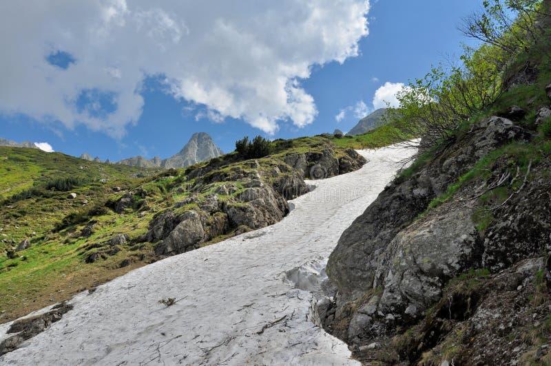 Download Nieve Del Verano En Las Montañas De Cárpatos Foto de archivo - Imagen de bosquejo, as: 41917260