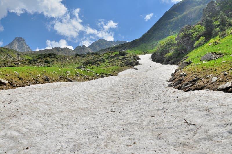 Download Nieve Del Verano Sobre Las Montañas Imagen de archivo - Imagen de grande, bosquejo: 41917265