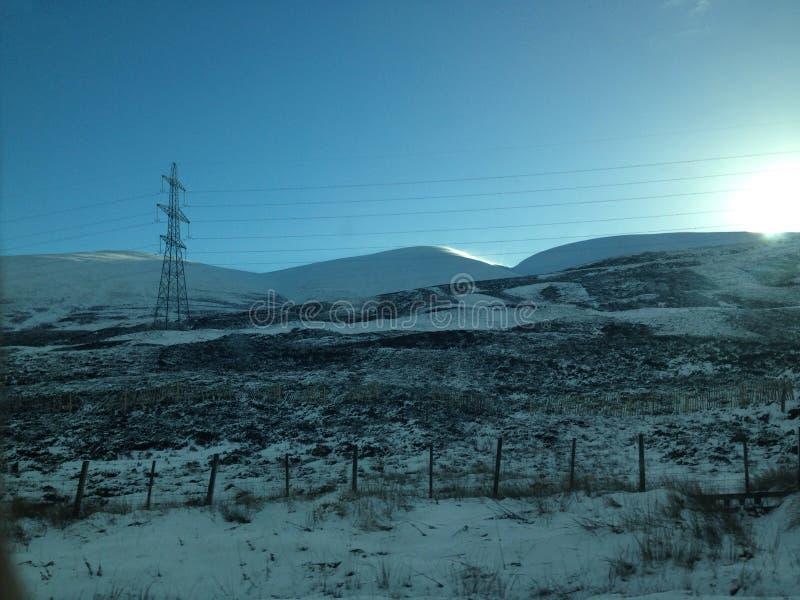 Nieve del viaje por carretera imagen de archivo