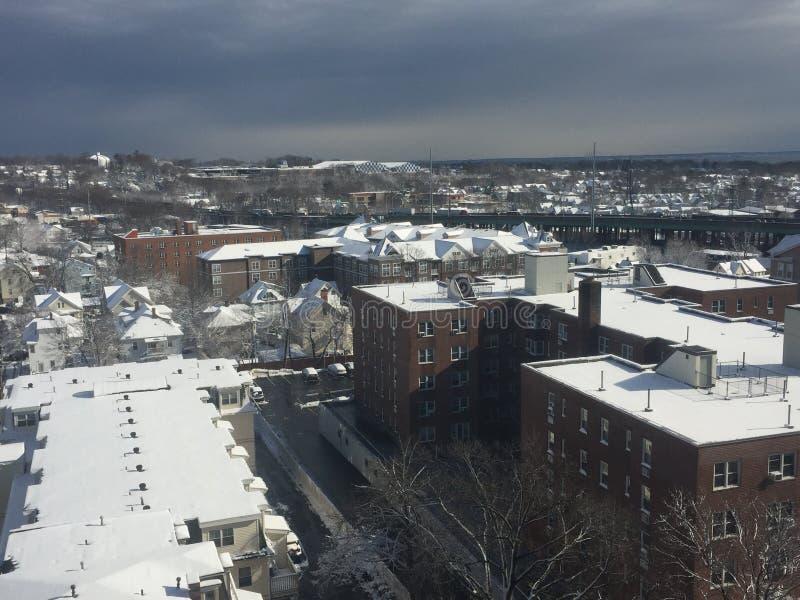 Nieve en Connecticut foto de archivo libre de regalías