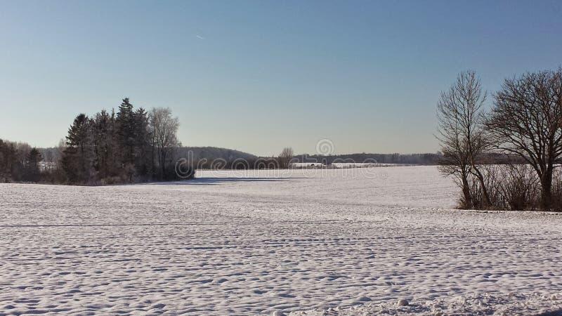 Nieve en Dinamarca imágenes de archivo libres de regalías