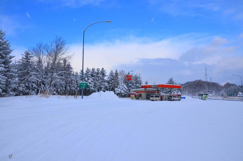 Nieve en Hokkaido imagen de archivo