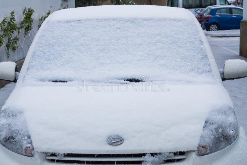 Nieve en Israel. 2013. fotos de archivo