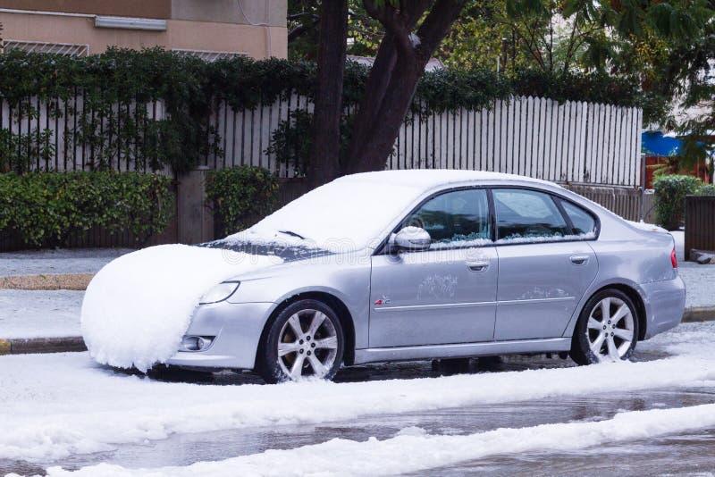 Nieve en Israel. 2013. fotografía de archivo libre de regalías