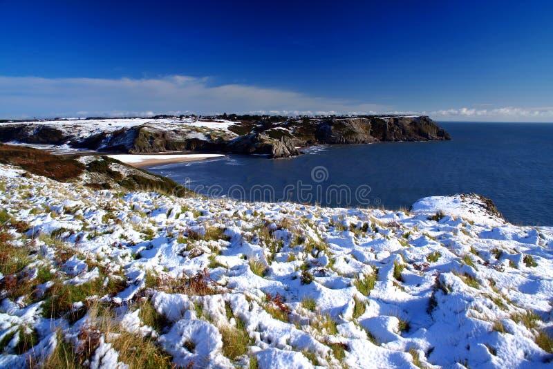 Nieve en la costa imagenes de archivo