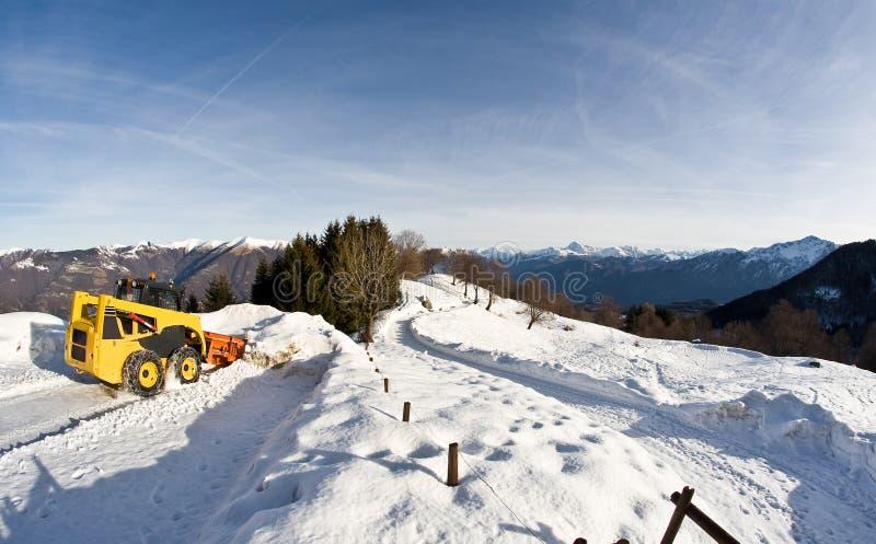 Nieve en las montan@as italianas imagen de archivo libre de regalías