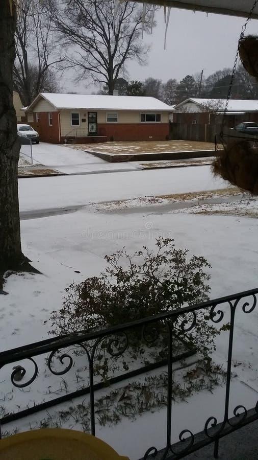 Nieve en Memphis fotos de archivo