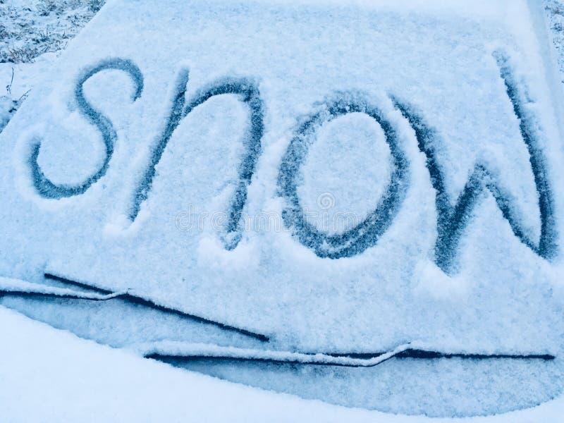 Nieve en octubre fotos de archivo