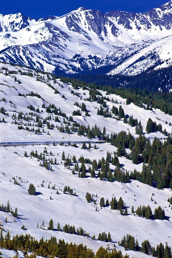 Nieve encima de Trailridge imagenes de archivo