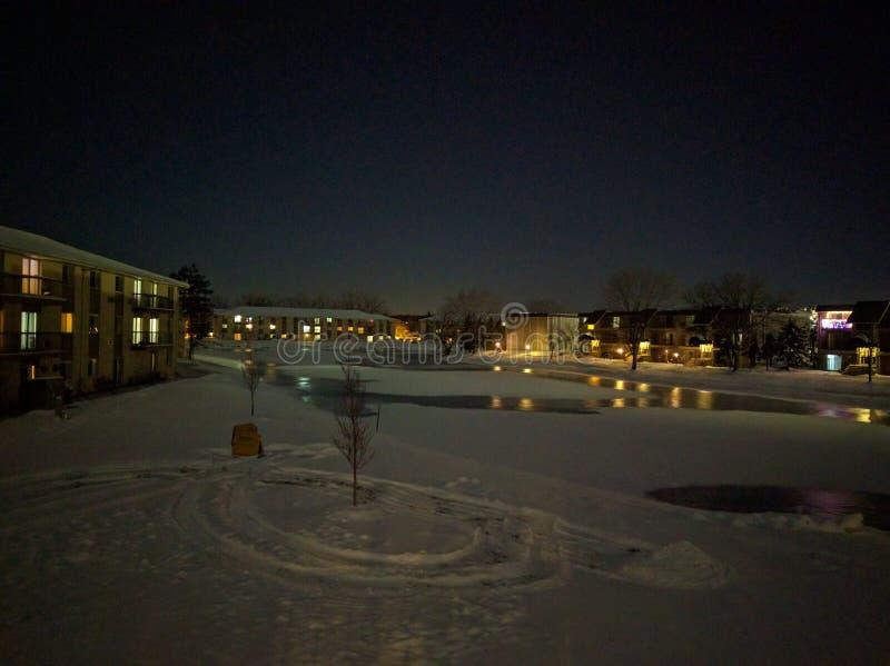 Nieve, frío, invierno, hielo, lago fotografía de archivo