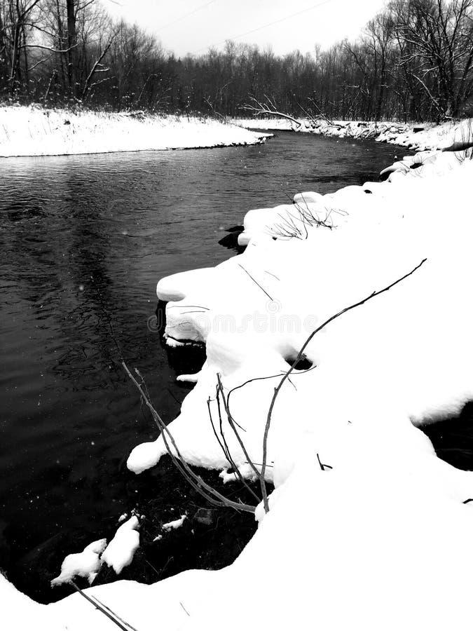 Nieve oscura foto de archivo libre de regalías