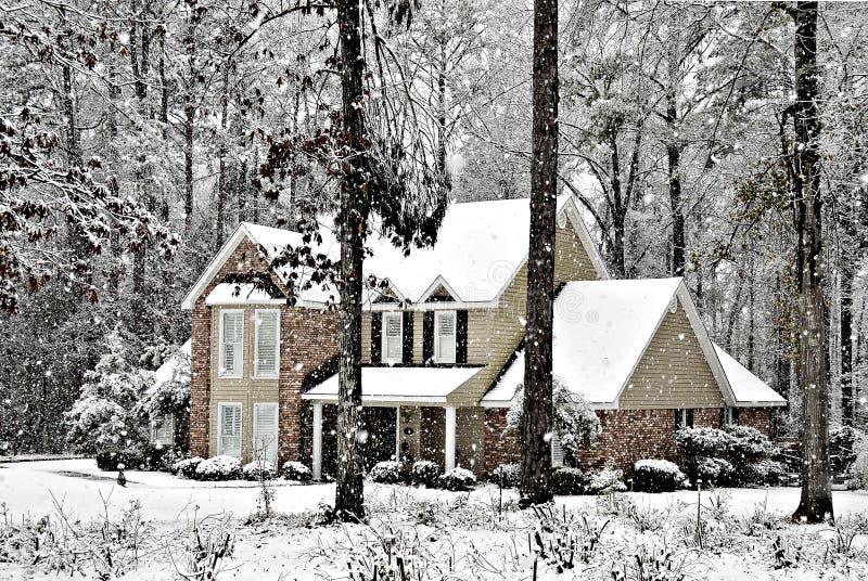 Nieve que cae imágenes de archivo libres de regalías