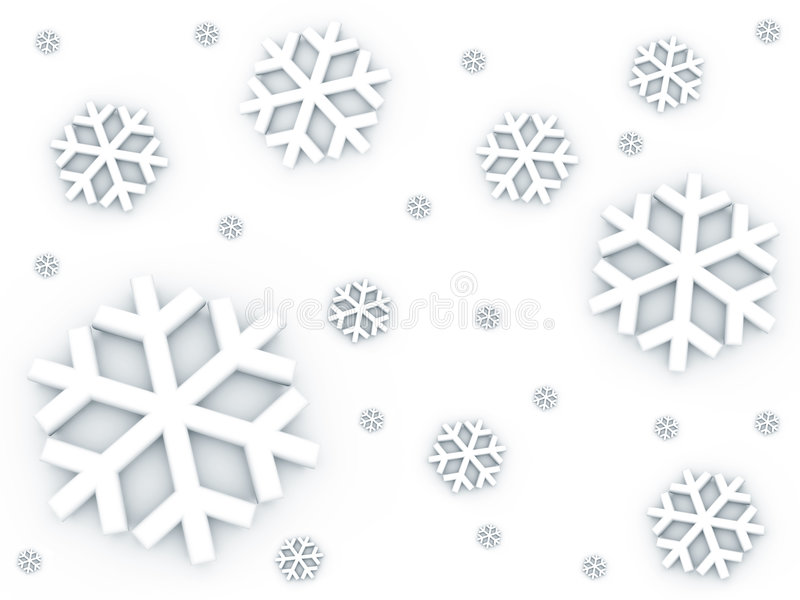 Nieve que cae abajo modelo stock de ilustración