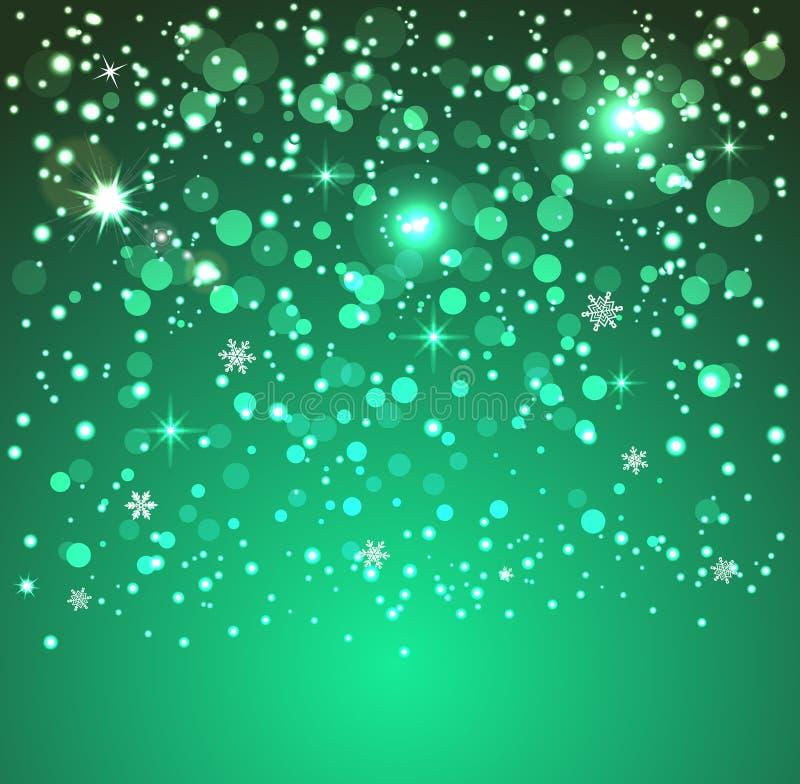 Nieve que cae aislada en un fondo transparente ilustración del vector