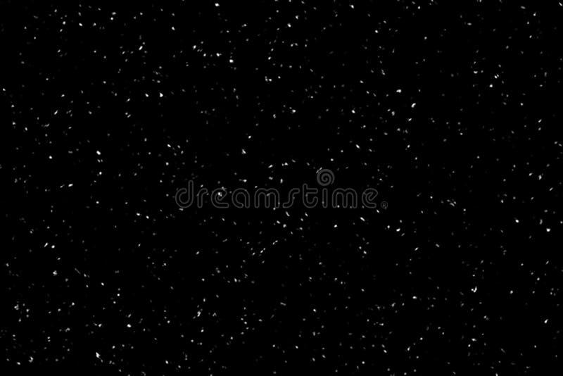 Nieve que cae en fondo negro Fondo del invierno en oscuridad pura Nevadas fuertes imagenes de archivo