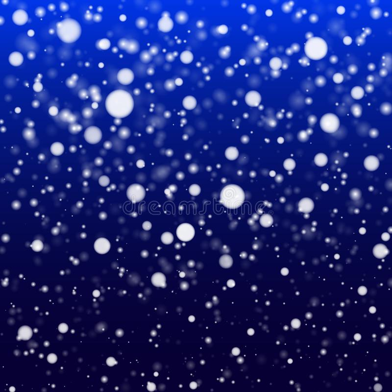 Nieve que cae en un fondo azul Nevadas, copos de nieve, blizzar libre illustration