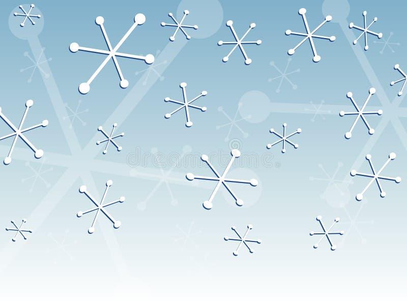 Nieve retra stock de ilustración