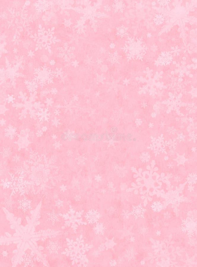Nieve sutil en color de rosa ilustración del vector