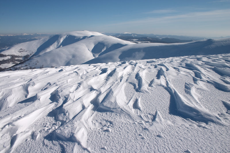 Nieve y viento fotos de archivo libres de regalías