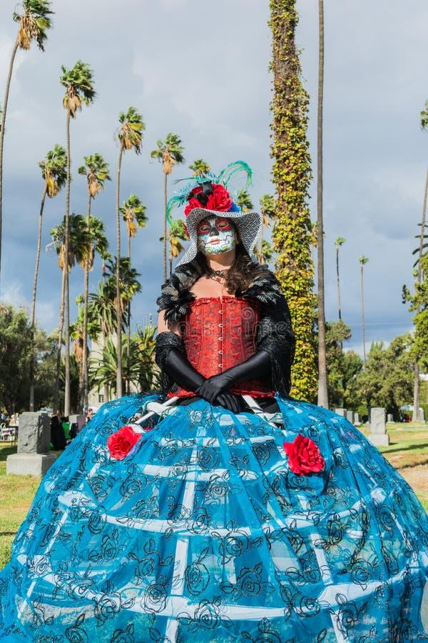 Niewiadoma kobieta przy 15th rocznym dniem Nieżywy festiwal obraz stock