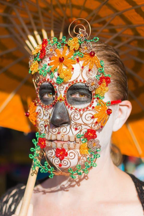 Niewiadoma kobieta przy 15th rocznym dniem Nieżywy festiwal fotografia stock