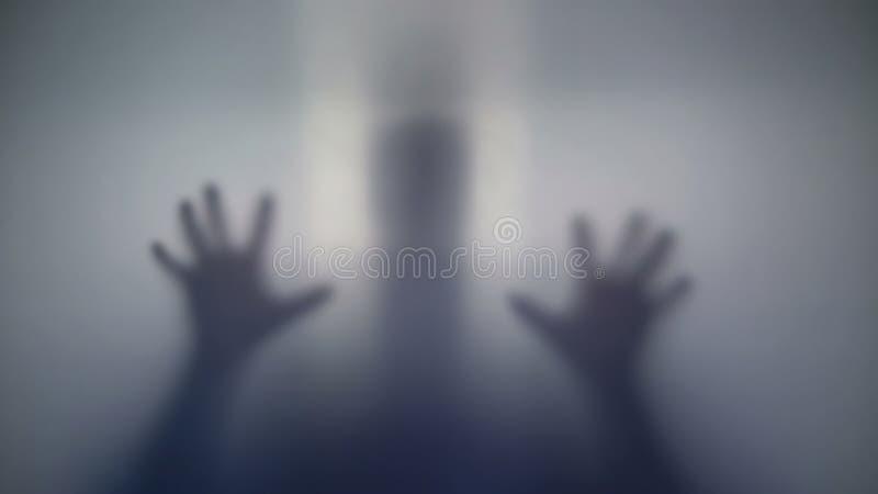 Niewiadoma sylwetka cicho kraść up, przerażający ludzie, dziwaczna istota zdjęcia stock