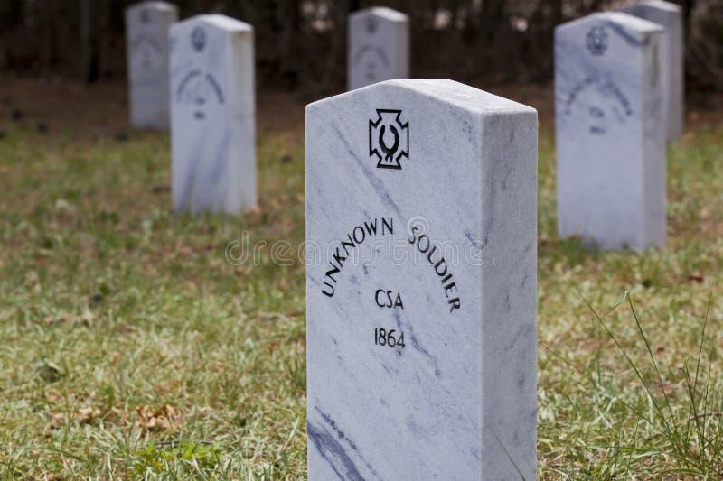 niewiadomi konfederacyjni żołnierze zdjęcie stock